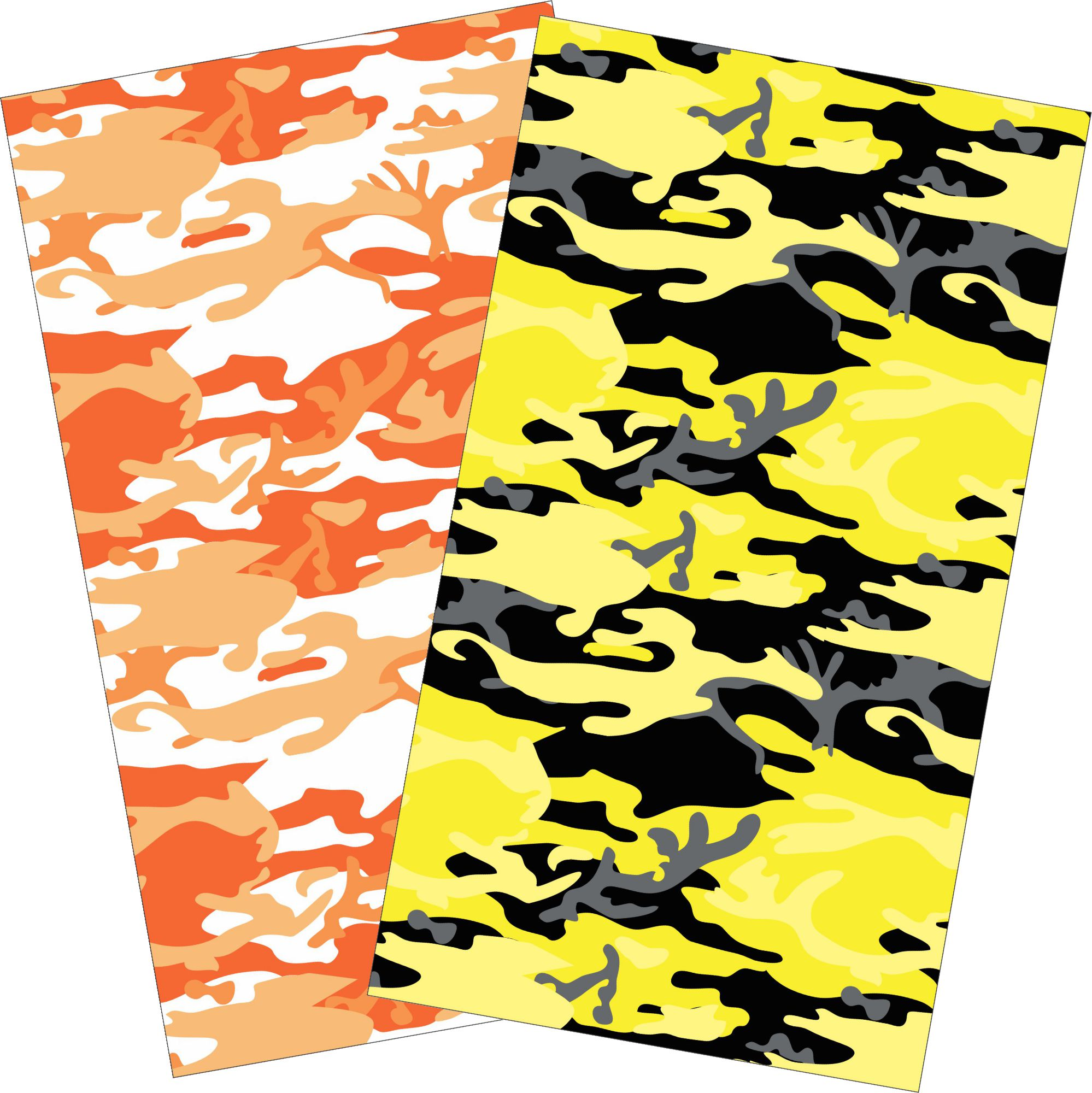 Orange Camouflage Camo print wall decor sheets 1998x2000