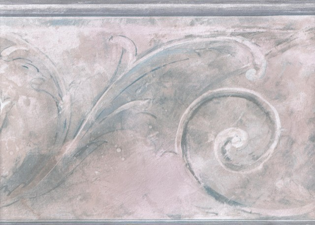 Pink White Stone Swirl Molding Wallpaper Border traditional wallpaper 640x458