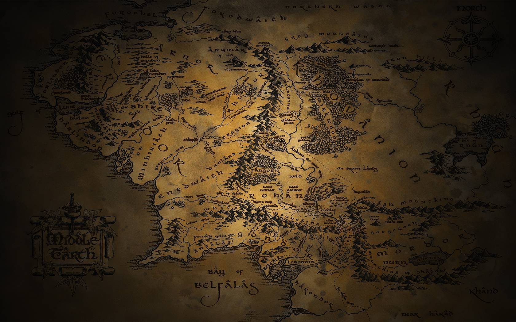 Map Of Middle Earth Wallpapers - Wallpaper Cave