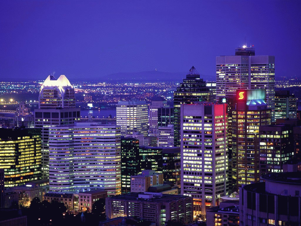 Lights of Montreal Quebec Canada Desktop Wallpapers and stock photos 1024x768