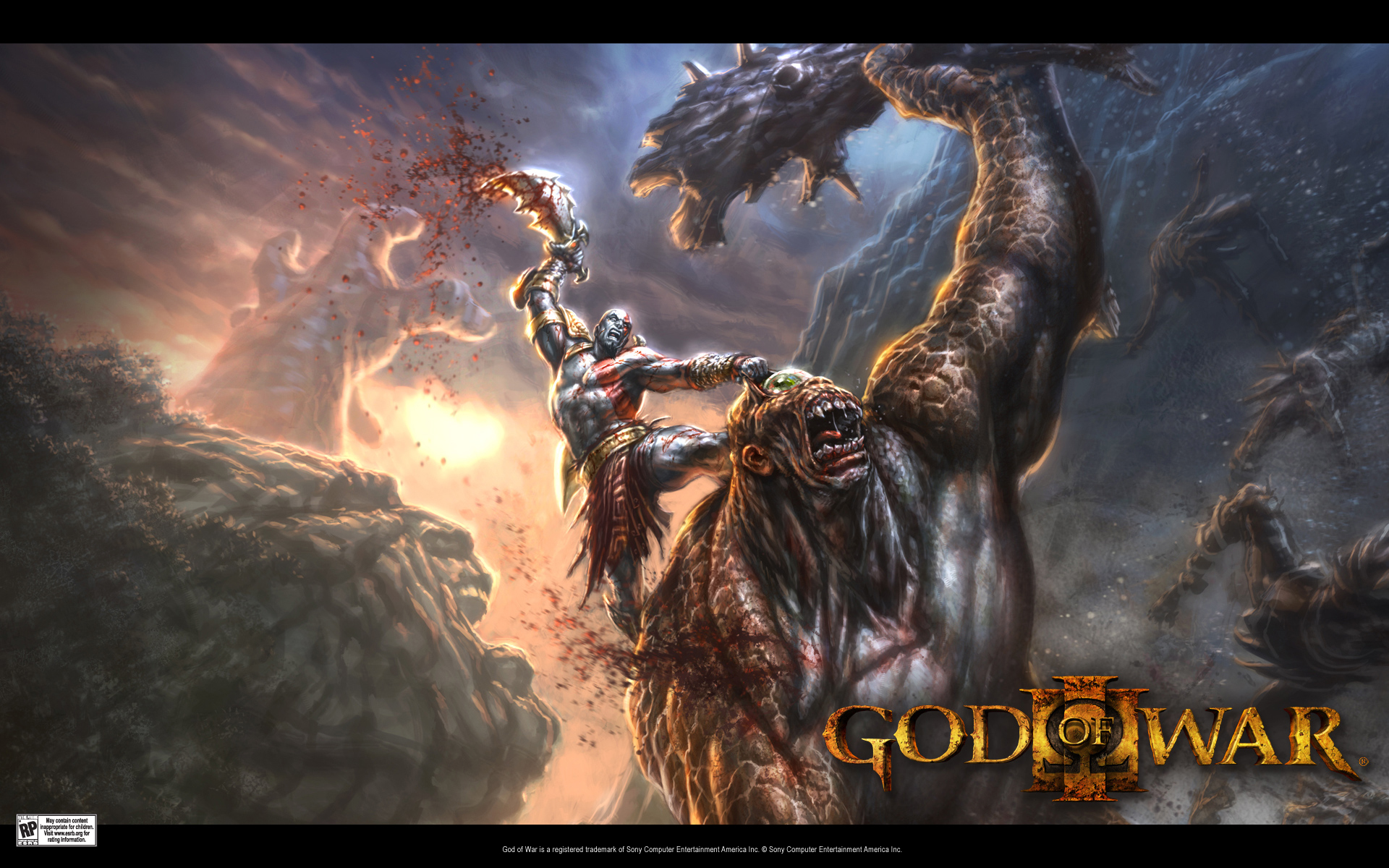 God of War wallpaper 1   1920x1200 Click for big pic 1920x1200