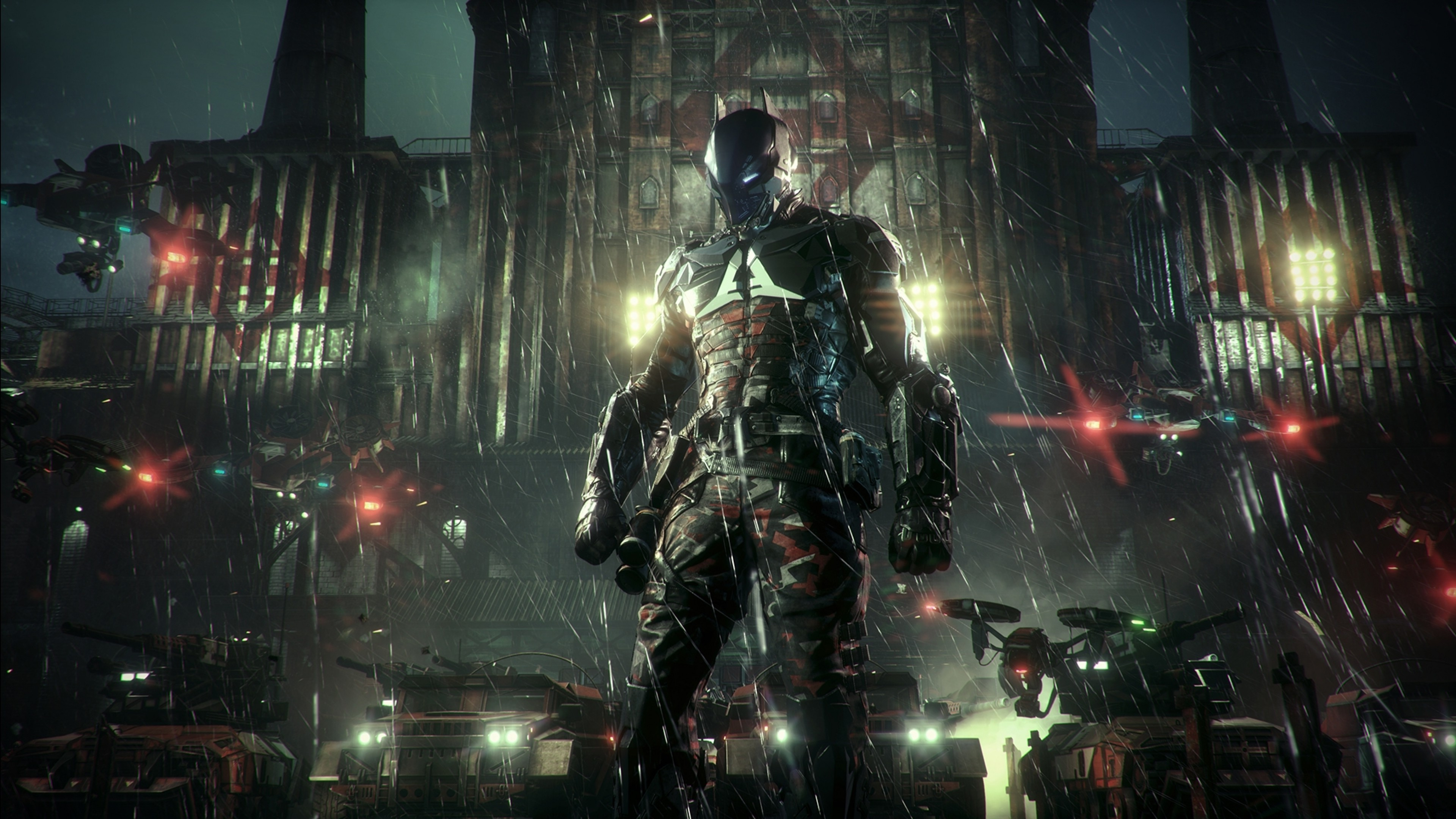 Batman Arkham Knight Rocksteady Studios Batman Batmobile 3840x2160