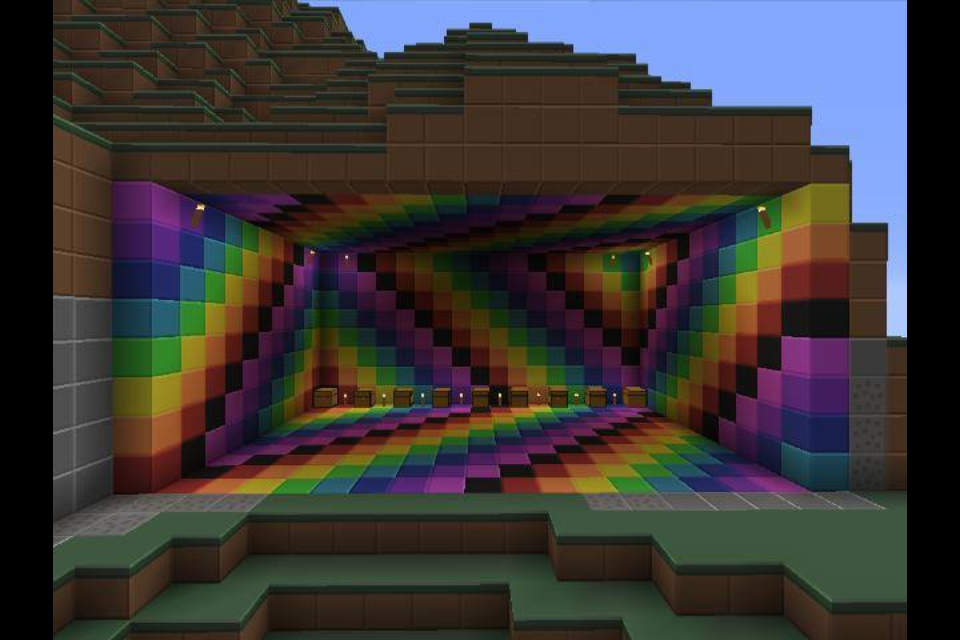 minecraft rainbow room by supermonkey9006 960x640