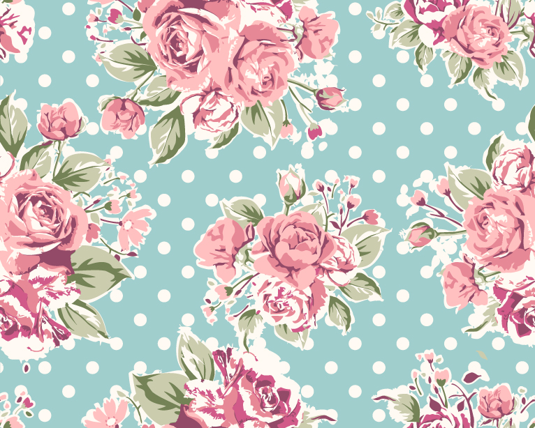 Rose Pattern Background 2 Vector Graphic Download 766x614