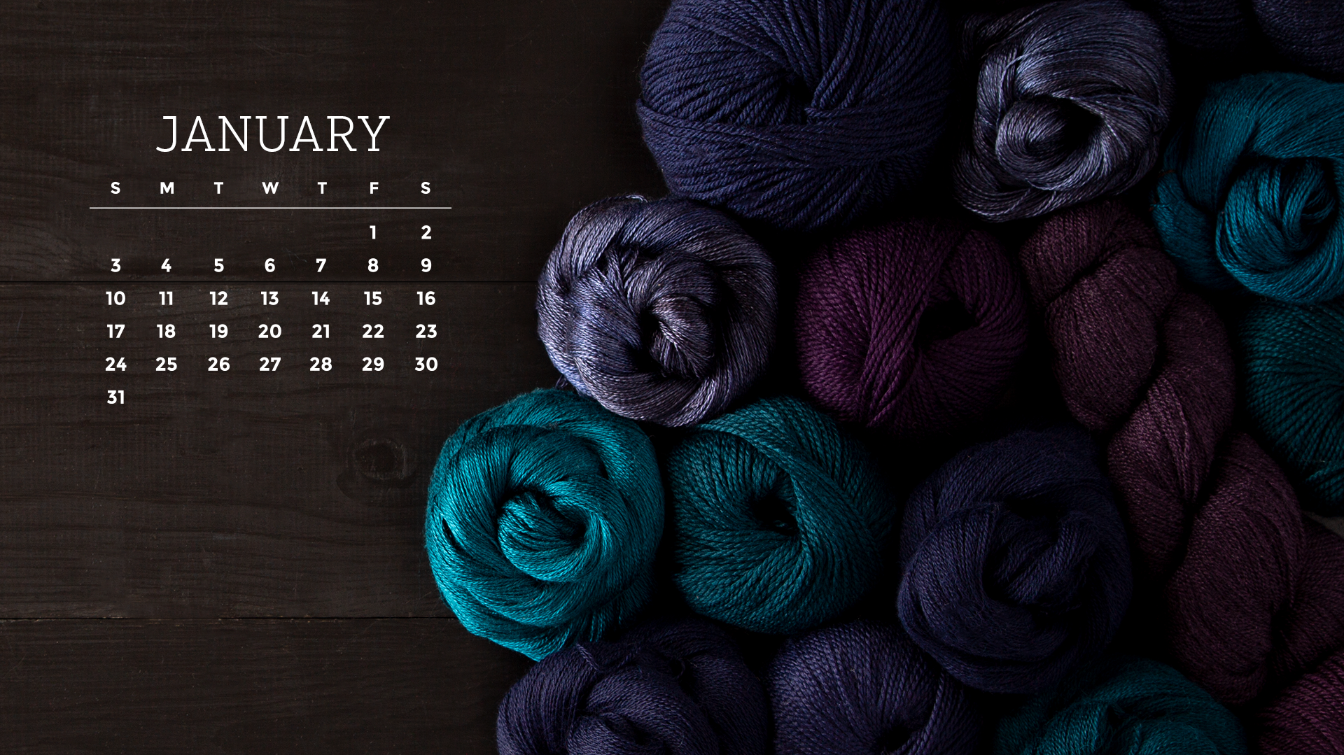 Downloadable January 2021 Calendar   KnitPicks Staff Knitting 1920x1079