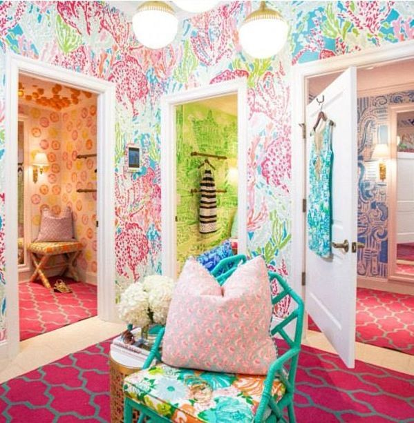 Lilly Pulitzer Dressing Room Makes Great Inspiration For A Little 599x613