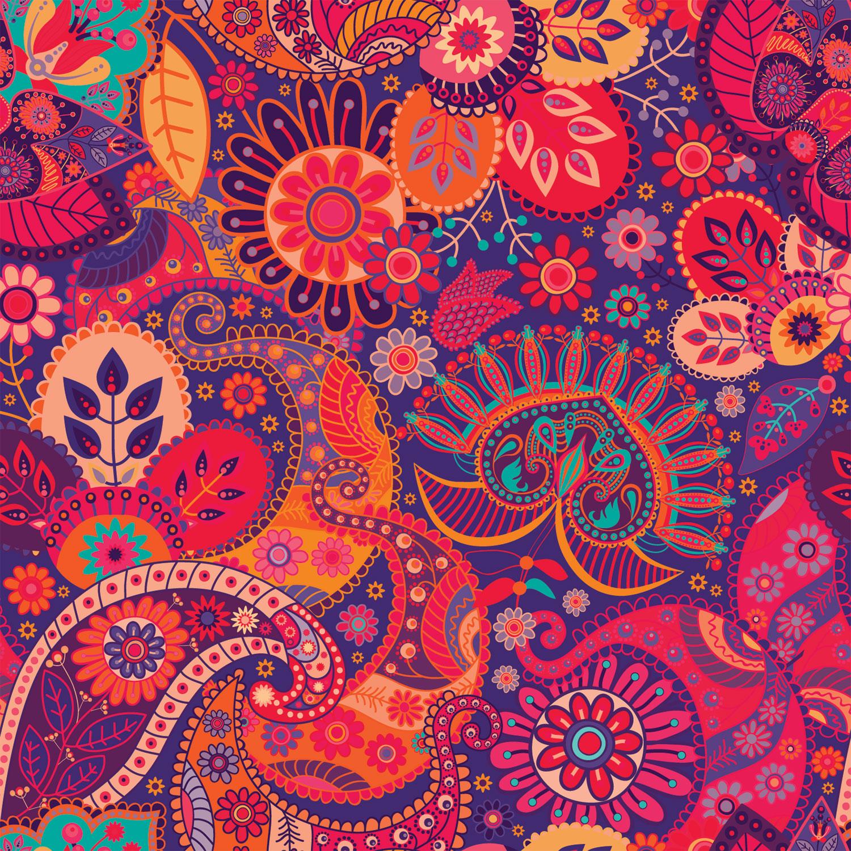 Purple Paisley Wallpaper - WallpaperSafari - photo#49