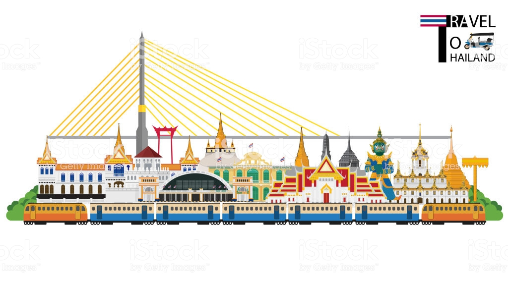 Bangkok In Thailand And Landmarks And Travel Placetemplebackground 1024x569