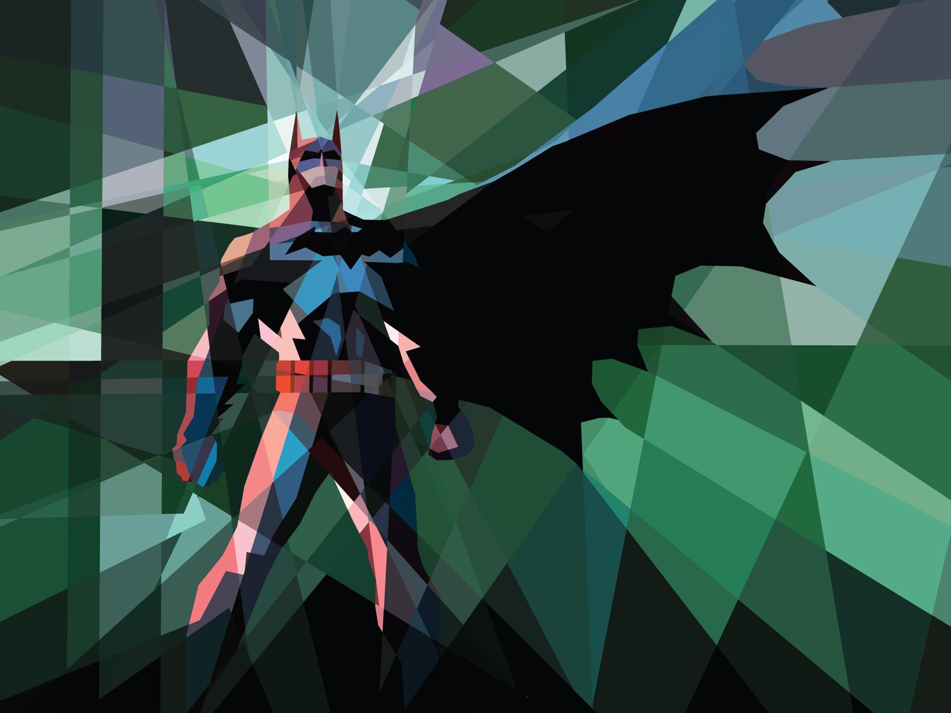 Batman Polygon Art wallpaper 1920x1440 50517 WallpaperUP 1920x1440