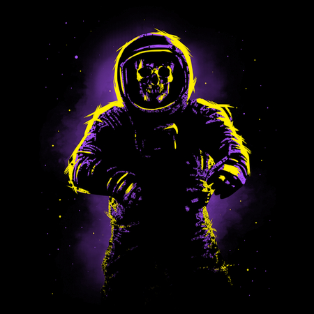 Psychedelic Astronaut skull   NeatoShop 600x600