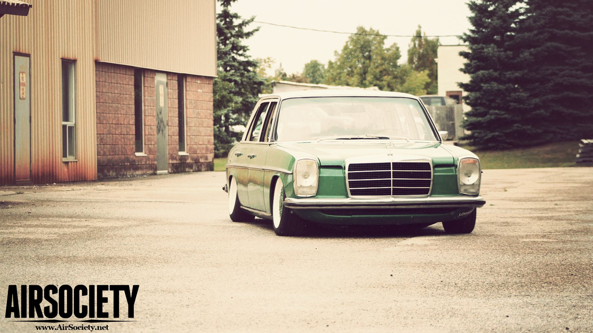 Bagged Mercedes 300D W115 Wallpapers AIRSOCIETY Rides 1920x1080