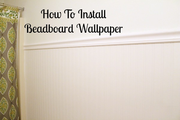 pre pasted beadboard wallpaper you can pick it up at Menards or Lowe 600x400