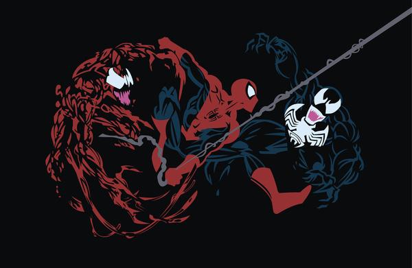 Venom Vs Carnage Wallpaper Spider man   carnage vs spidey 600x391
