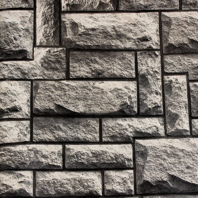 3d stone wallpaper wallpapersafari for Black 3d brick wallpaper