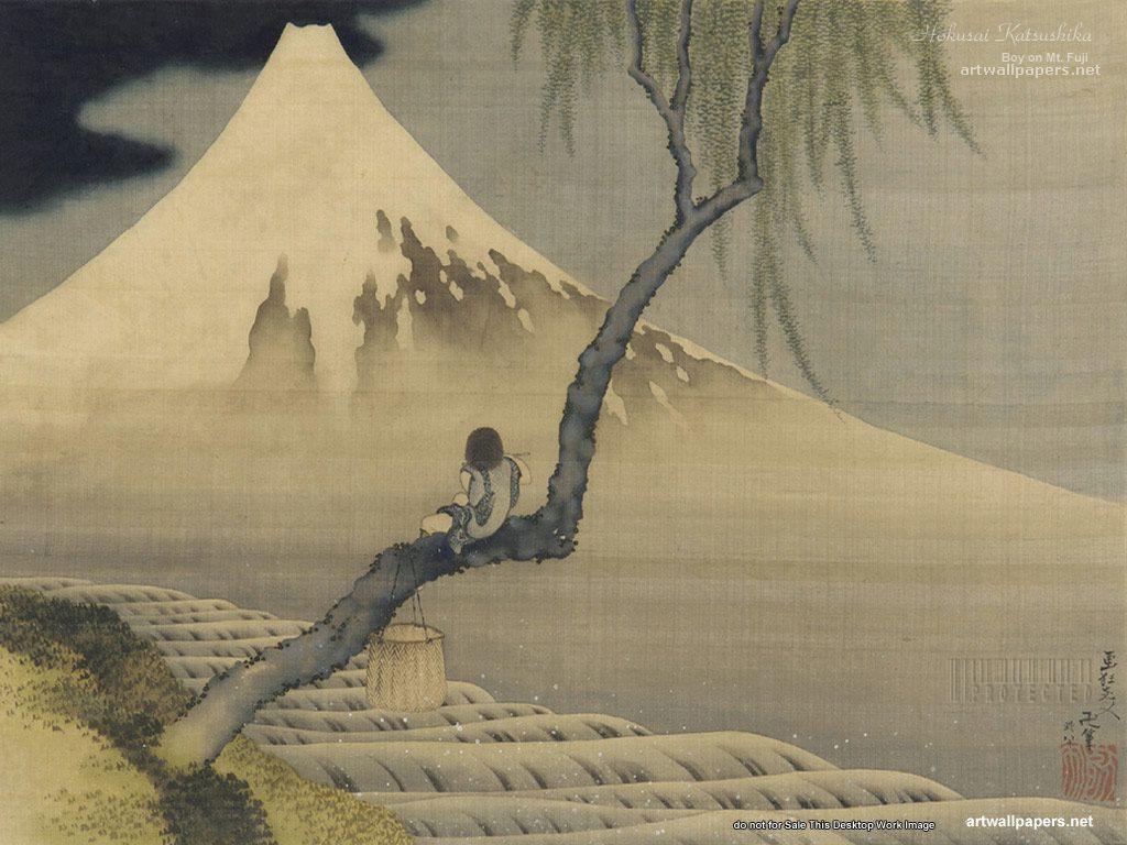 Fujiyama Japanese Art Wallpaper Wallpapers 1024x768