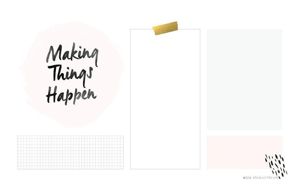 Making Things Happen Organizational Desktop Wallpaper 1024x641