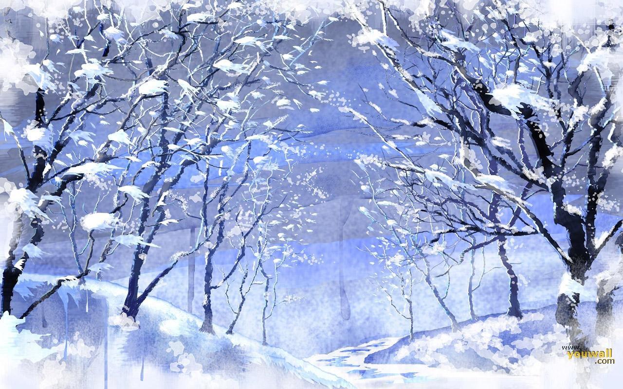 anime snow wallpaper 2015   Grasscloth Wallpaper 1280x800