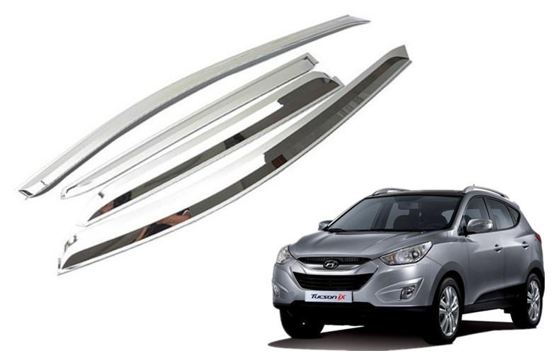 Chrome Sun Visors Vent Shade for IX35 2009 2010 2011 2012 2013 Hyundai 785x505