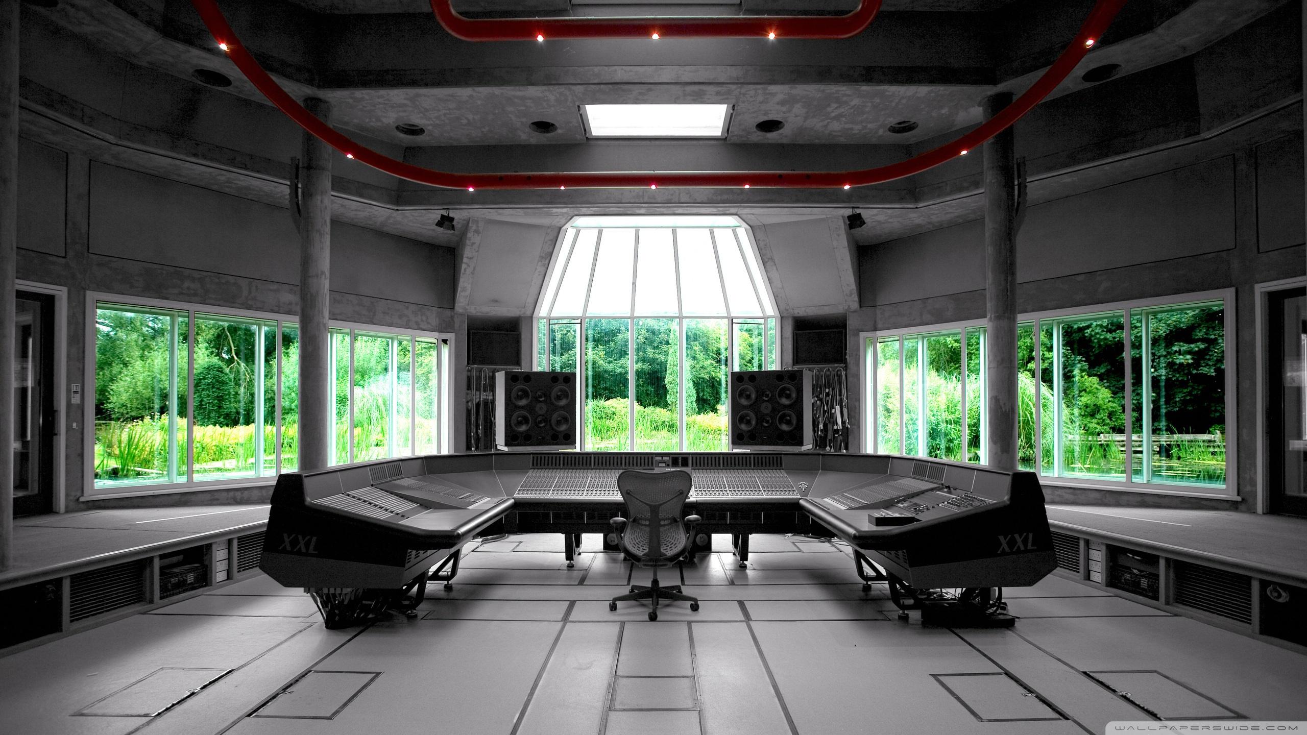 Music Recording Studio 4K HD Desktop Wallpaper for 4K Ultra HD 2560x1440