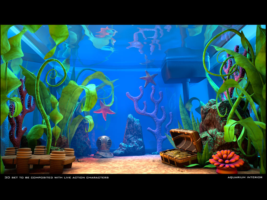 wallpaprercomlive aquarium desktop background windows 7 1291html 1024x768