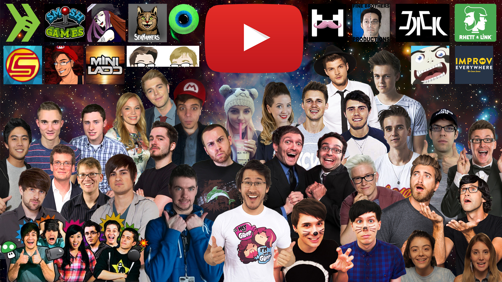 Some of My Favorite YouTubers Wallpaper by kurtklaineblaine on 1600x900