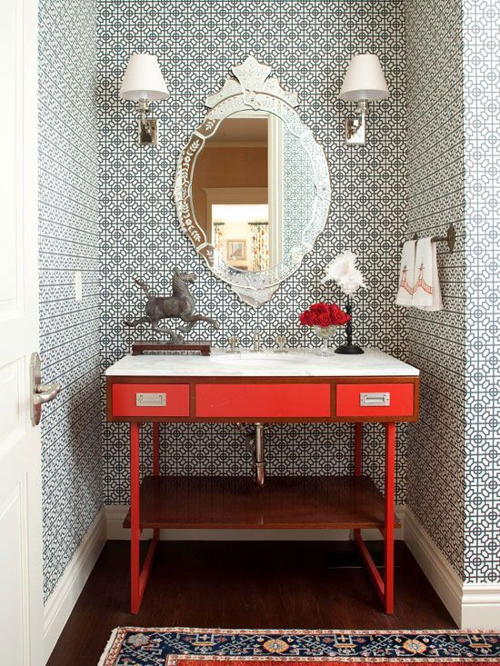 Wallpaper for the Powder Room 550x733