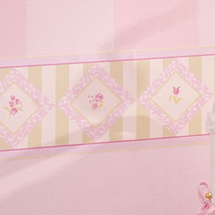 lambs and ivy baby rose wallpaper border 7 inch x 30 inch lgjpg 700x700