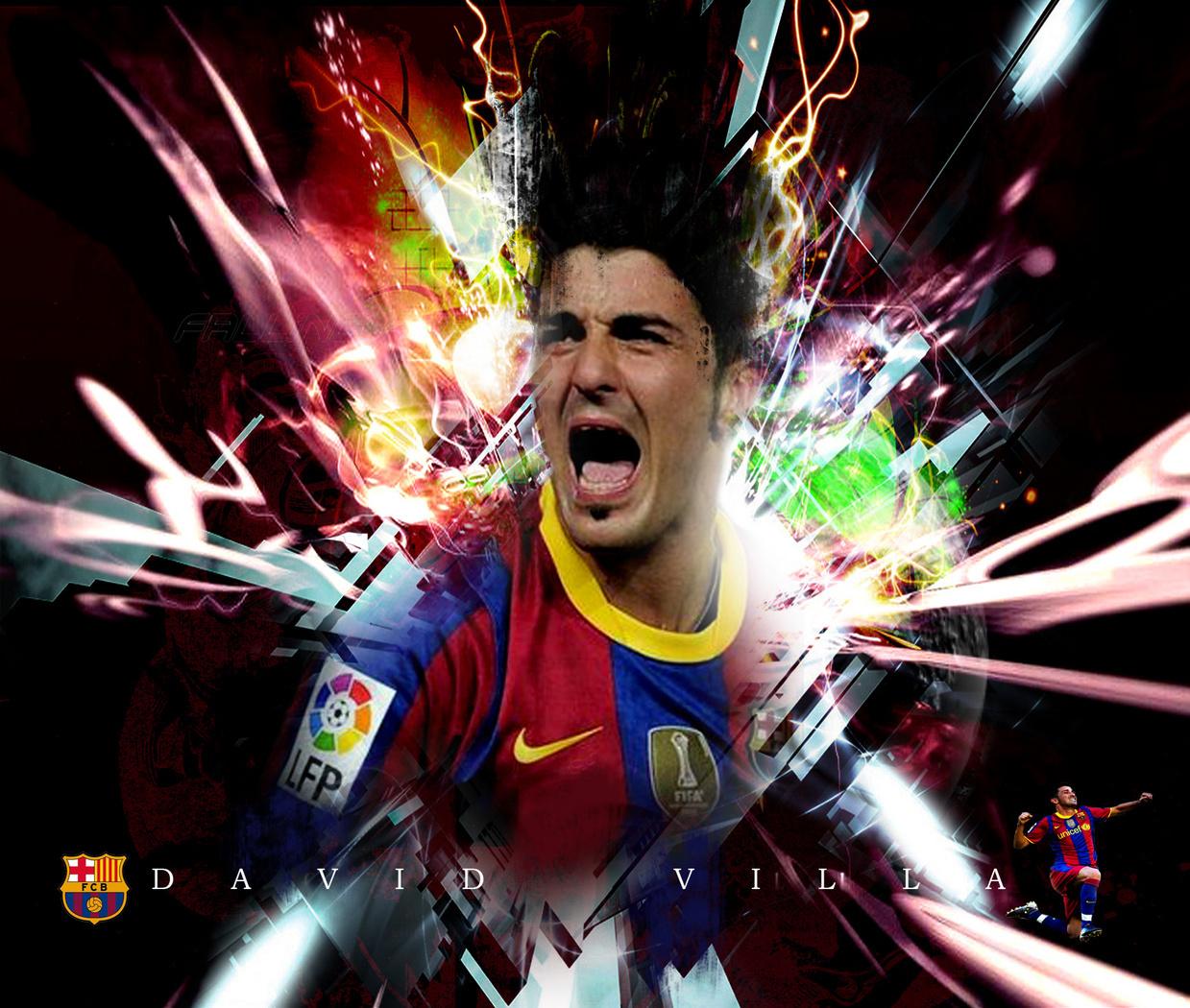 David Villa FC Barcelona Wallpaper   David Villa Fan Art 22595005 1239x1050