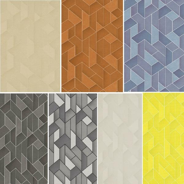 ERISMANN LEVANTE 3D GEOMETRIC TEXTURED EMBOSSED BLOWN VINYL WALLPAPER 600x601