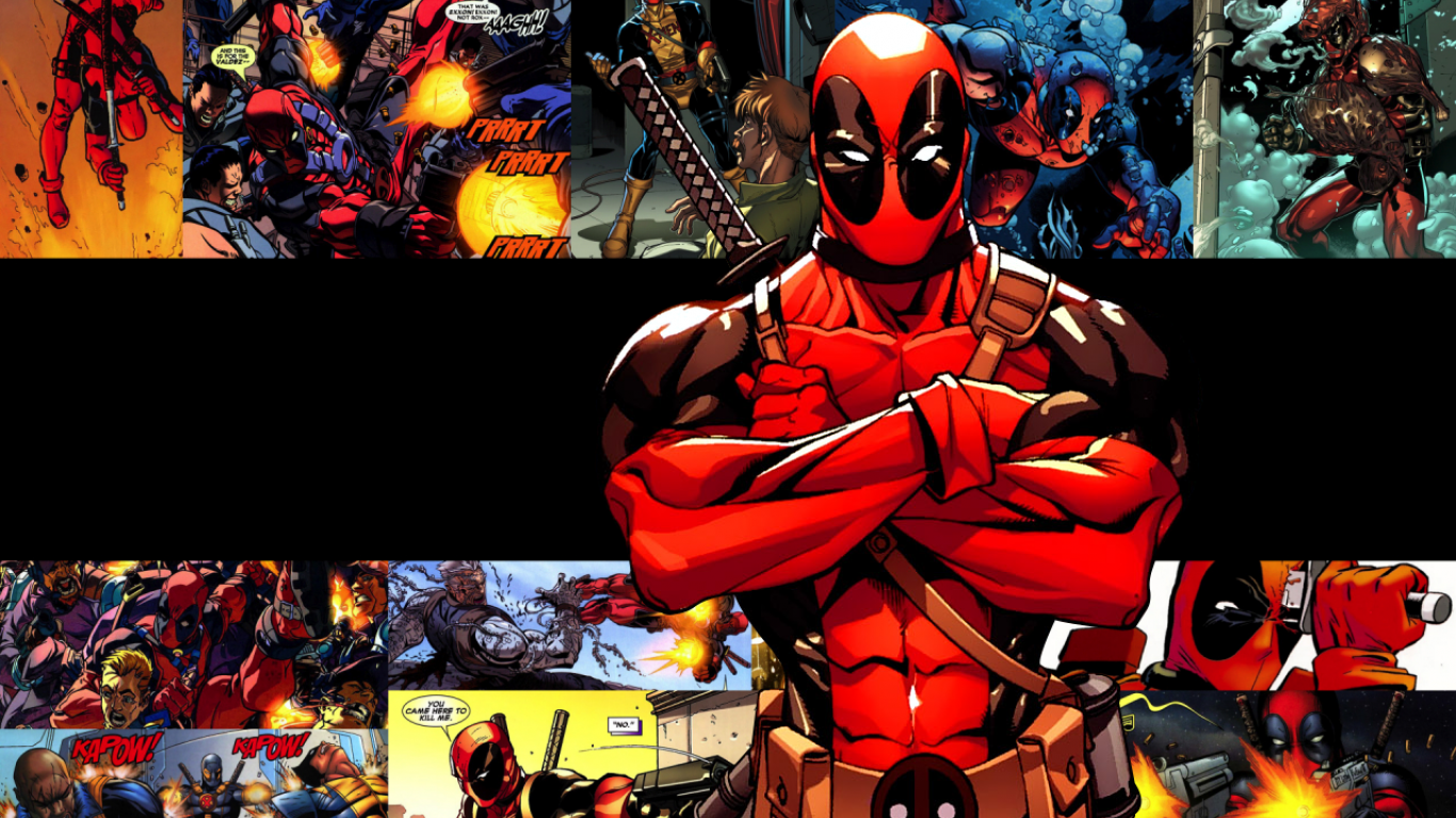 Deadpool HD Wallpapers Desktop Backgrounds Mobile 1366x768