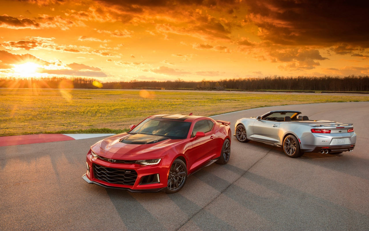 2017 Chevrolet Camaro ZL1 Convertible Wallpapers HD Wallpapers 1280x800