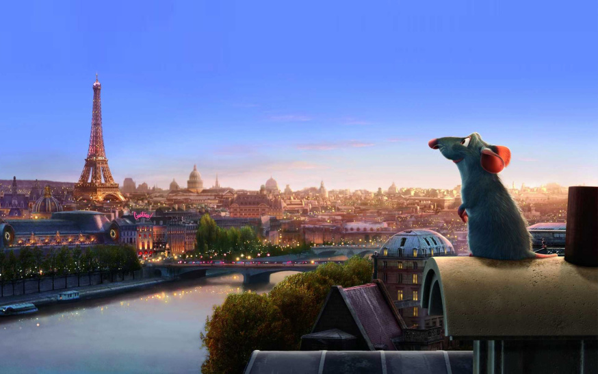 Wallpaper ratatouille myshenok paris france cartoon disney pixar1 874x546