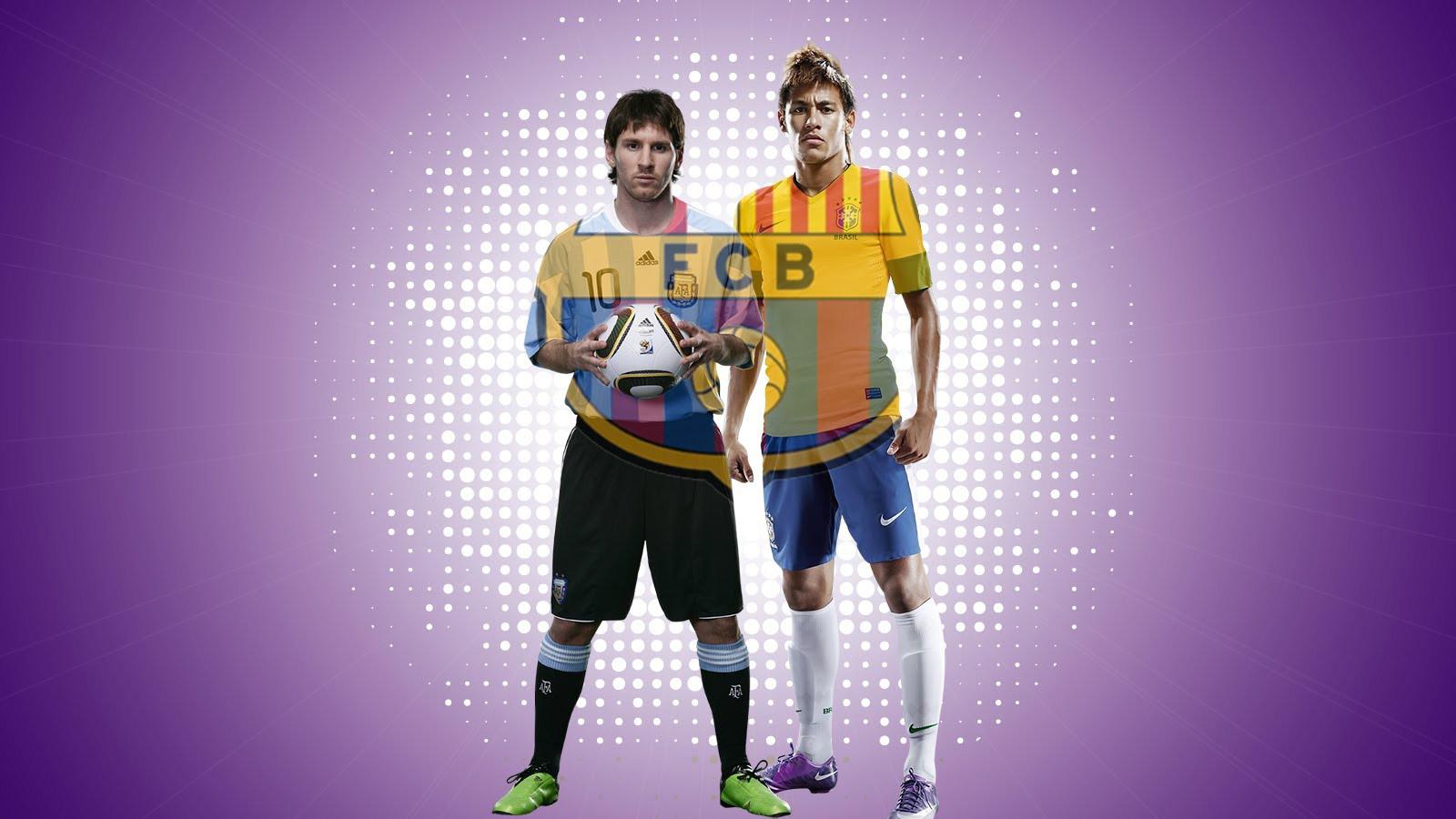 Neymar and Messi wallpaper   FC Barcelona 2013 2014 neymarjrnet 1600x900