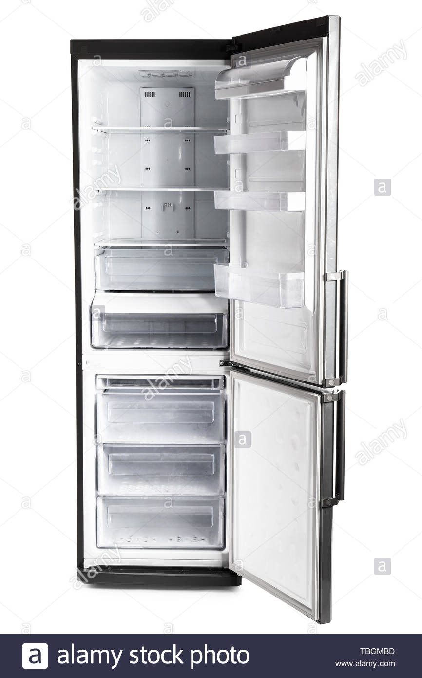 Big modern fridge on white background Stock Photo 248073601   Alamy 866x1390