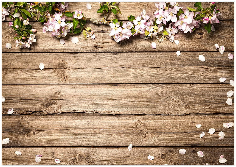 Amazoncom Allenjoy 7x5ft Vinyl Rustic Wood Wedding Flowers 1500x1062