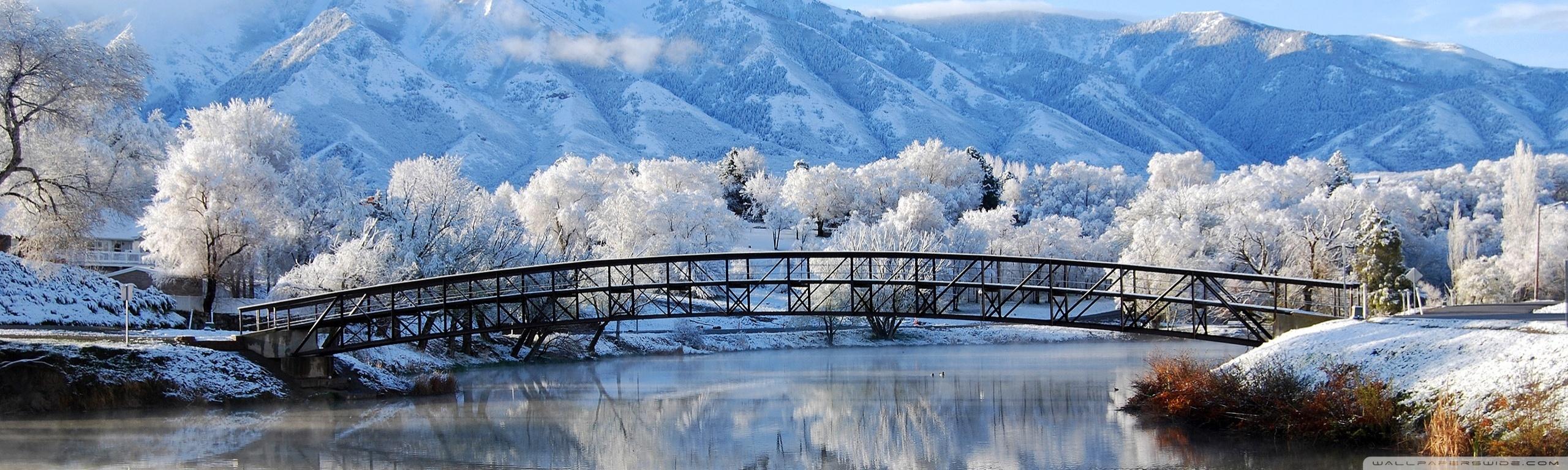 Beautiful Winter Scene 4K HD Desktop Wallpaper for 4K Ultra HD 2560x768