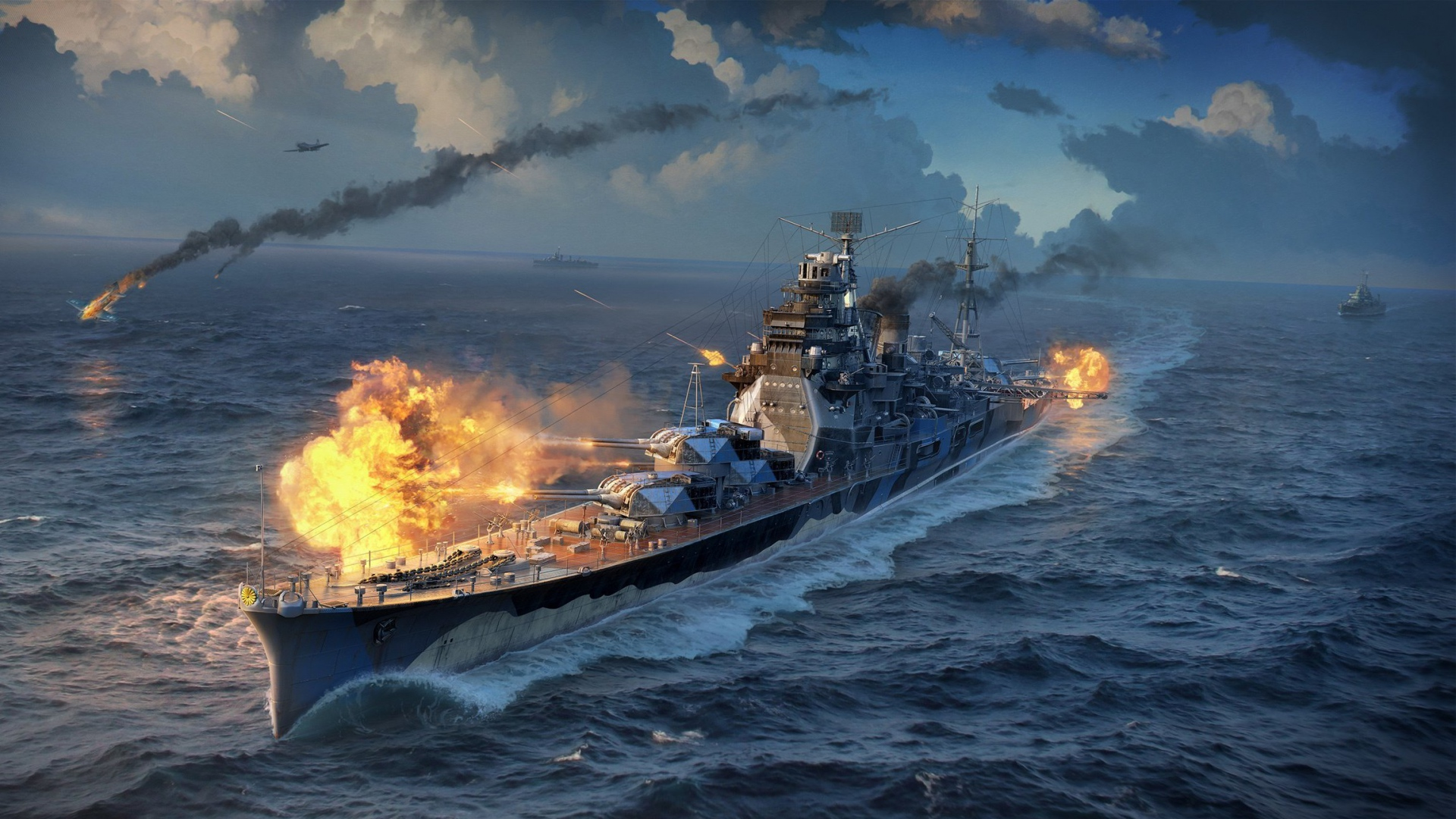 Free Download 1920x1080 World Of Warships Wargaming Net Wows