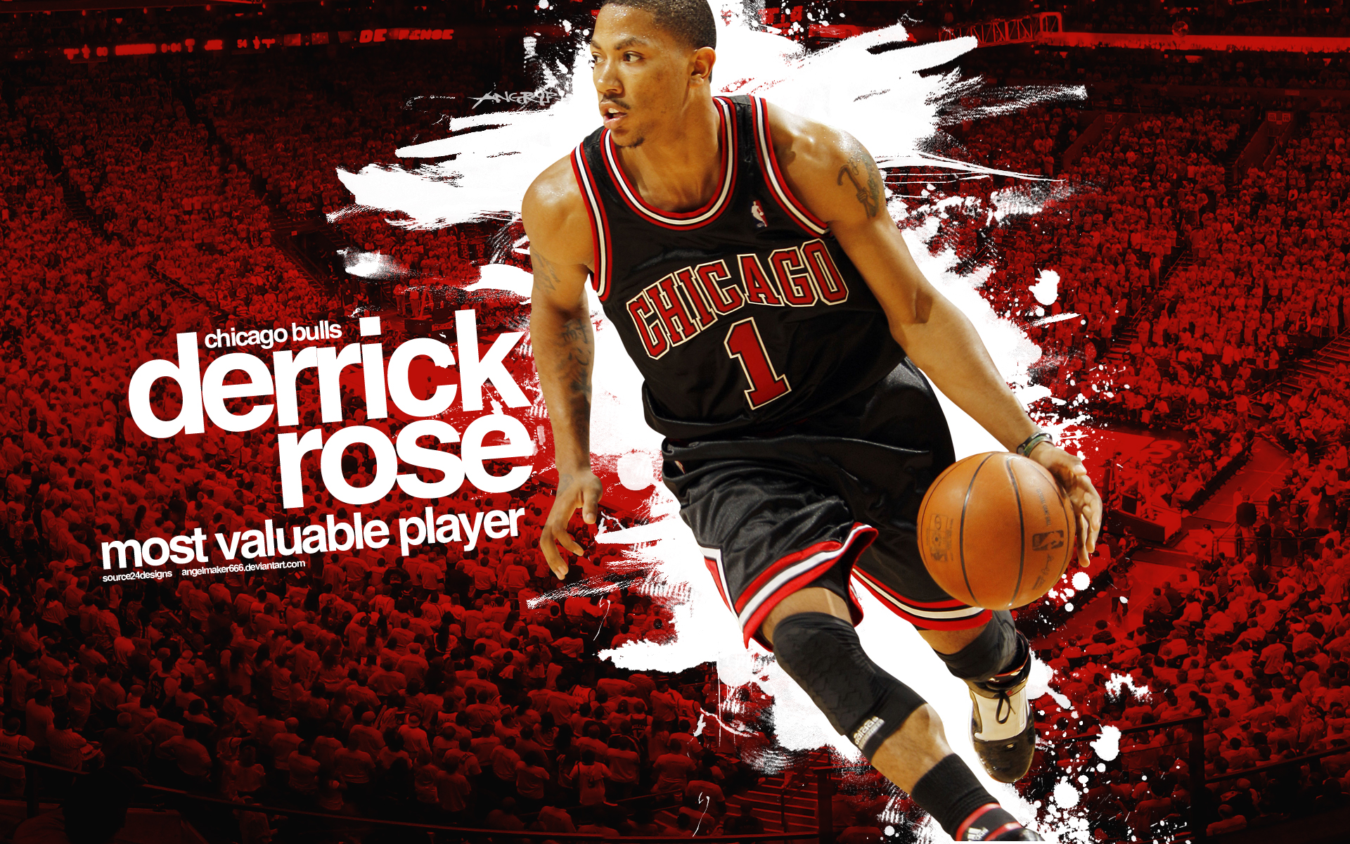 Derrick Rose Dunk On Lebron James Wallpaper Images 1920x1200