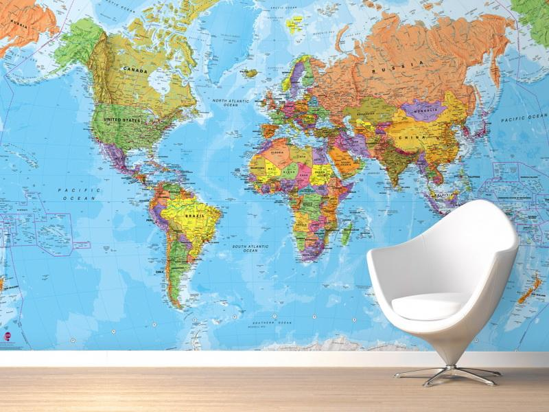 World Map Wallpaper for Home WallpaperSafari – Map of the World Zoomable