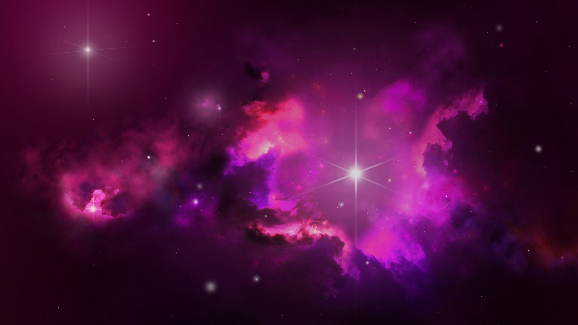 1920x1080 Pink Outer Space Stars desktop PC and Mac wallpaper 1920x1080
