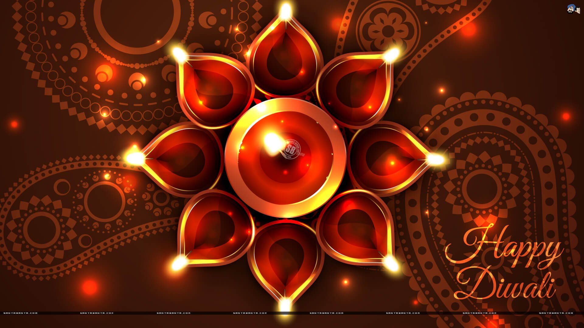 30 Beauty Animated Diwali Lamp Affordable Yellow Color Background