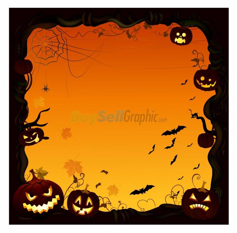 halloween pumpkin border ai halloween pumpkin border eps total size 800x785