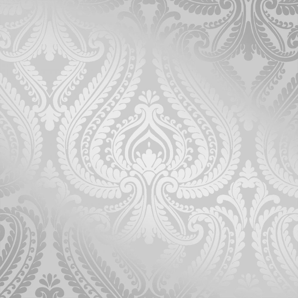 Love Wallpaper Shimmer Damask Soft Grey Silver I 1000x1000