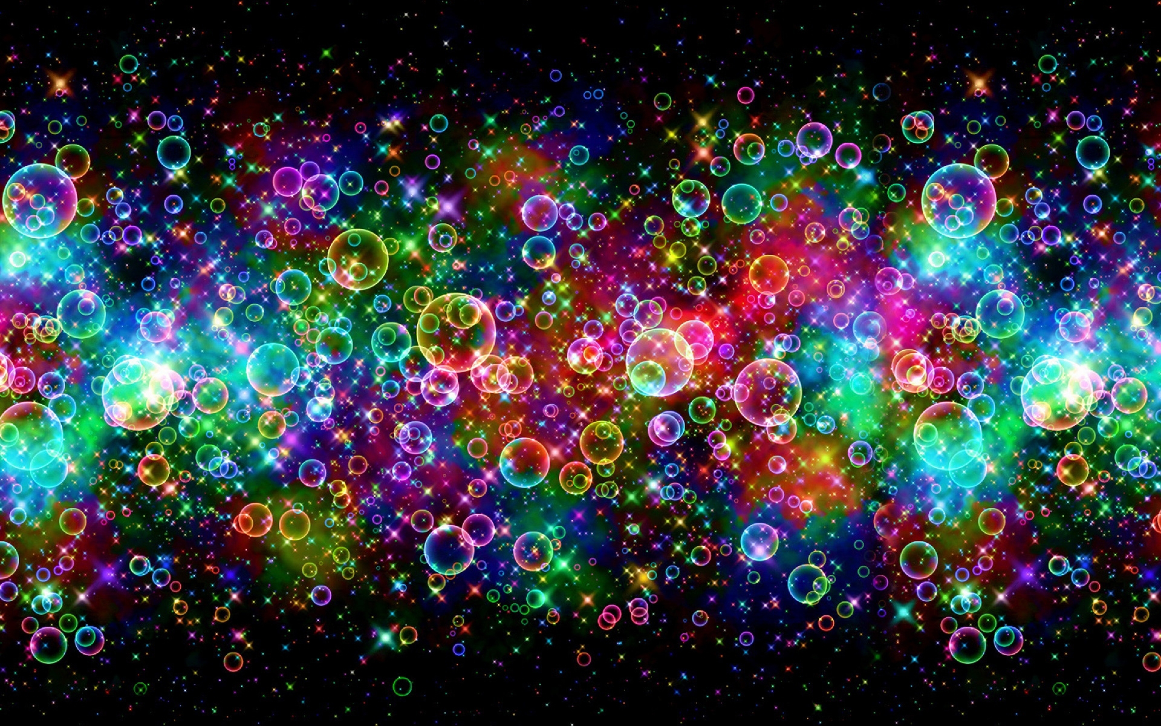 bubbles digital art desktop colorful background hd wallpaper 3840x2400