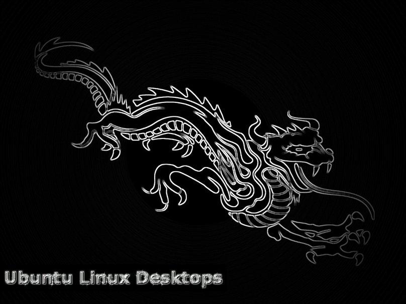 de Ubuntu pour le Dragon Noir Chrome Wallpaper   ForWallpapercom 808x606