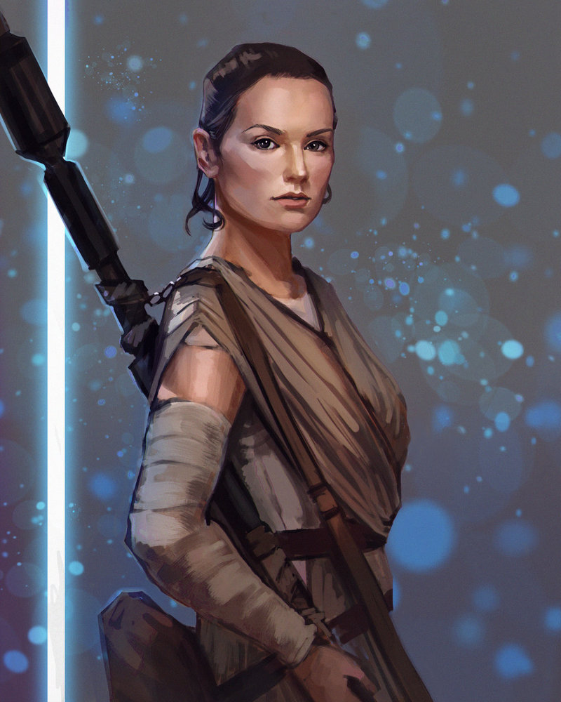 Star Wars Rey by PolliPo 800x1000