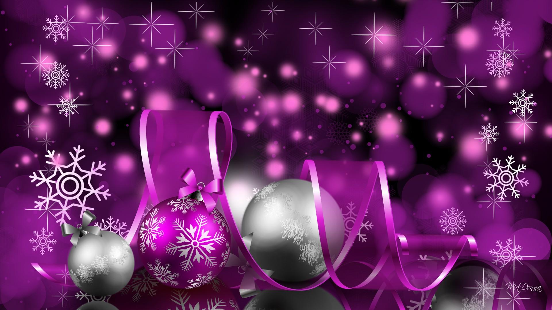 Своими, фиолетовая новогодняя открытка
