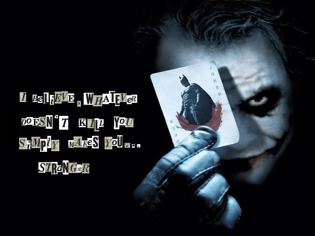 Dark Knight Heath Ledger Stranger Wallpaper 1024x768