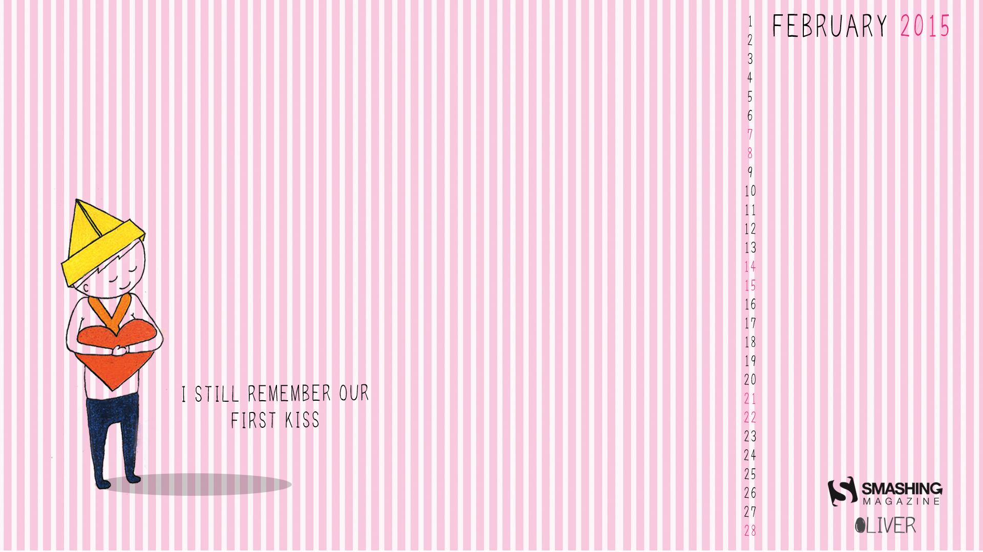 Desktop Wallpaper Calendars February 2015   Print2Web 1920x1080