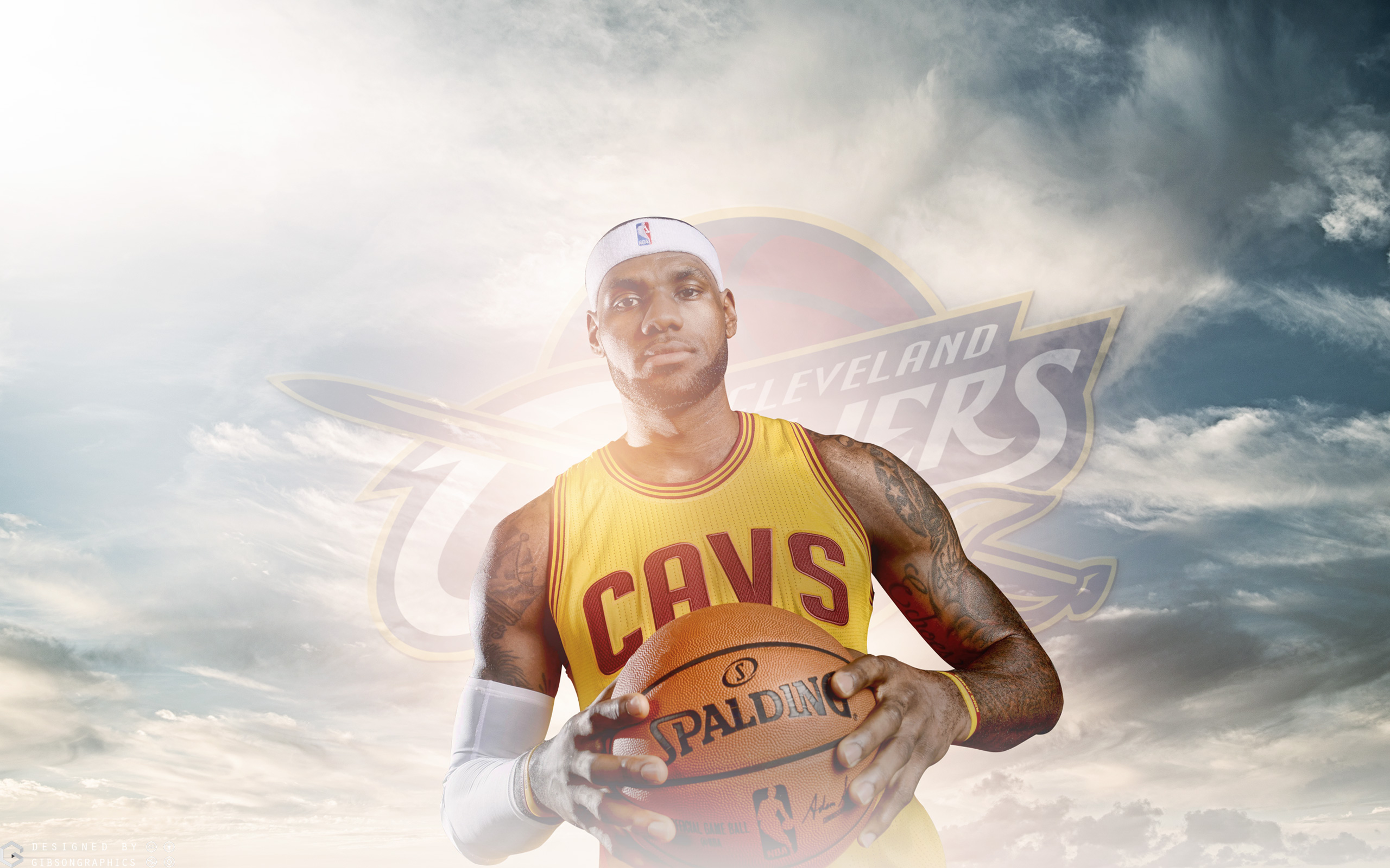 King James 2015 Cleveland Cavaliers Wallpaper Basketball 2560x1600